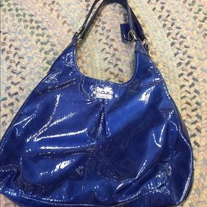 Coach Ultramarine Madison Maggie Hobo Handbag